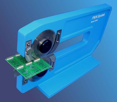 "K1000 Manually Operated Circular on Circular blade depanelizer cuts PCBs up to 12.5"" long."